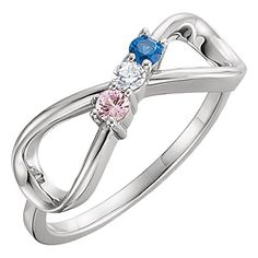 Family Mothers Ring 3 4 or 5 Birthstones (Swarovski zirconia) Solid White or Yellow or Rose Gold -- Details can be found by clicking on the image. (This is an affiliate link and I receive a commission for the sales) Birth Month Stones, Mother Rings, Mothers Ring 3 Stone, Infinity Jewelry, Three Stone Rings, Color Ring, Or Rose, Rose Gold, Personalized Jewelry
