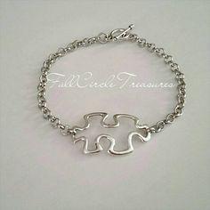 Autism Awareness Bracelet - Autism Bracelet - Awareness Bracelet - Autism Awareness Puzzle Bracelet - Awareness jewelry - Autism Jewelry by fullcircletreasures. Explore more products on http://fullcircletreasures.etsy.com