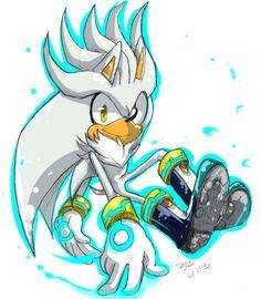 Afbeeldingsresultaat voor silver the hedgehog fan art