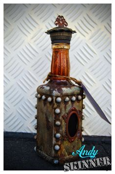 Altered Steampunk Bottle
