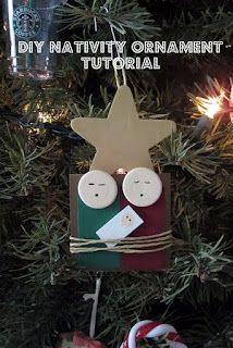 Nativity Ornament Tutorial