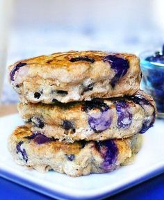 These homemade blueberry pie pancakes have been described as being the fluffiest pancakes EVER!