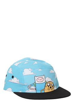 My new Adventure Time 5 panel camper I designed for Hot Topic! Cartoon Network, Adventure Time Finn, Hat Hairstyles, New Adventures, Our Baby, Larp, Hot Topic, What I Wore, Caps Hats