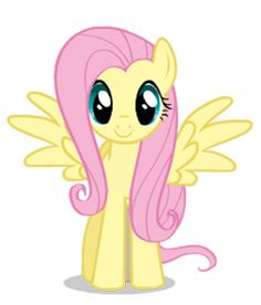 Fluttershy is one of the main protagonists of My Little Pony: Friendship is Magic. She is one of Twilight's best friends, Angel's owner, and Discord's girlfriend.