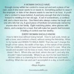 Every woman...