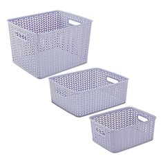A Simplify Herringbone Storage Tote is a great addition to any home or work space. Made of durable plastic, with a chic herringbone pattern, this sturdy and stylish tote bin helps hide messes and gives your a room a neat look.