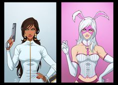 Jaina Hudson And White Rabbit by phil-cho on DeviantArt Dc Comics, Batman Comics, Comic Book Characters, Comic Character, Anime Fighting Games, Prison, Deadshot, White Rabbits, Joker And Harley