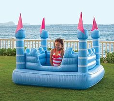 Castle Inflatable Pool on potterybarnkids.com, even on sale we can't afford it but Aurora would LOVE this!