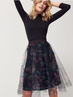 Mohito - Tylová sukňa s kvetinovým motívom