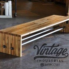 Reclaimed Boxcar Oak Bench