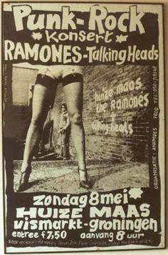 Punk Rock Konsert with Ramones & Talking Heads Pop Art Posters, Tour Posters, Band Posters, Music Posters, Retro Posters, Illustrations Posters, Concert Rock, Roman Photo, Punk Poster