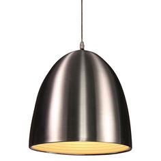 Alyssa Steel Finish Pendant (Includes Edison Bulb)