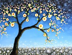 Kissing Tree  ACEO  Signed Art Card Print by PaintingPrints, $6.00