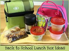 Back to School Lunch Box Ideas! I don't have to pack a school lunch yet (thank goodness) but these are great ideas.