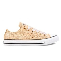 fa67db9e398f Women s Sparkly Converse All Star Low Sneakers - Pale Gold Glitter