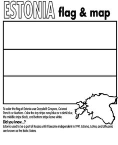 Best Coloring: Estonia flag coloring pages - Amazing Coloring sheets - Estonia Flag, Latvia Flag, Lithuania Flag, Poland Flag, Pictures Of Flags, Flag Coloring Pages, Coloring Sheets, Flags With Names, Crayola Colored Pencils
