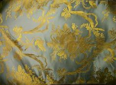 lelievre tassinari chatel bleu marie antoinette french silk lampas fabric ebay marie. Black Bedroom Furniture Sets. Home Design Ideas