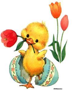 Easter Art, Easter Crafts, Easter Bunny, Vintage Cards, Vintage Images, Cute Easter Pictures, Easter Illustration, Easter Printables, Vintage Easter