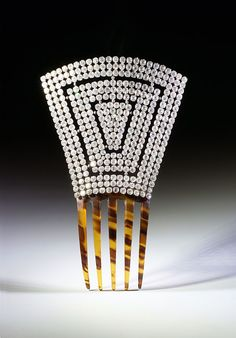 <>Comb with rhinestones Art Deco <>