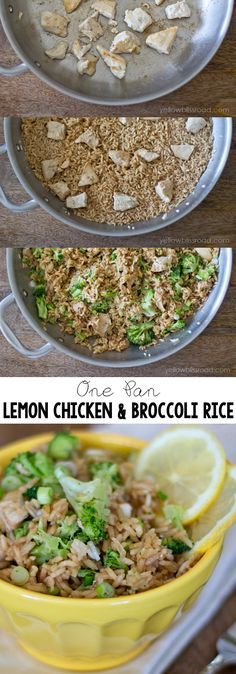 Easy One Pan Lemon Chicken and Broccoli Rice  #ad