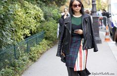 #margaretzhang #biker #beauty #paris #pfw #women #fashionweek #ss15 #mbfw #fashion #style #look #outfit #streetfashion #streetstyle #mode #moda