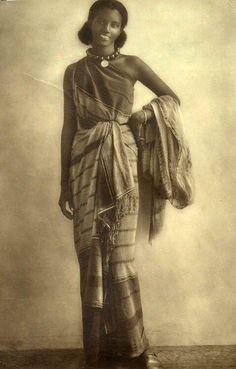 Somalian woman in traditional dress, 1940