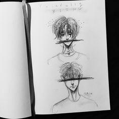 """Painfully Blind""  A Killing Stalking fan art drawing."