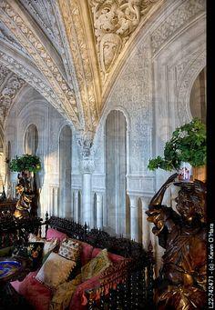 Sintra, Coast of Lisbon, Portugal.The Pena National Palace (Portuguese: Palácio Nacional da Pena) is the oldest palace of the European Romanticism. UNESCO World Heritage Site .