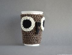 Owl Coffee Cup Cozy - Mug Sleeve Cosy