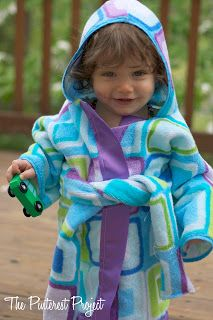 The Pinterest Project: Beach Robe - Ready for the Water!