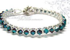 Swarovski Crystal Bracelet - Burgundy-Blue
