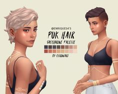 @enriques4 's puk hair recoloured as per anon's request here are some hairs coloured in the plain saccharine palette. this is probably my favourite shaved hair so enjoy! • all 16 swatches from the...
