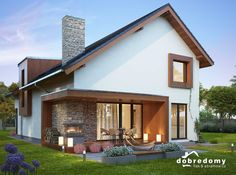 Modern Farmhouse Exterior, Modern Cottage, Best House Plans, House Elevation, Small House Design, Facade House, Little Houses, House In The Woods, Exterior Design