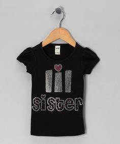 This Black 'Lil Sister' Tee - Toddler & Girls is perfect! #zulilyfinds