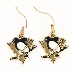 Pittsburgh Penguins Dangle Earrings - Sunset Key Chains