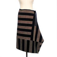 Harris Tweed Hand Printed Skirt @ Jaggynettle.com