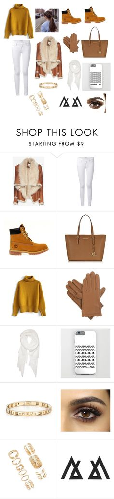 """#Timberland"" by michelle-jovanovic ❤ liked on Polyvore featuring Mason by Michelle Mason, Frame Denim, Timberland, Michael Kors, Chicwish, Isotoner, Calvin Klein, Tiffany & Co. and Forever 21"