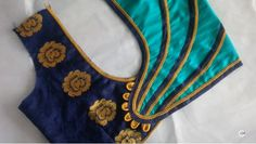 Easy Blouse Back Side Neck Design Cutting And Stitching - Kurti Blouse Saree Jacket Designs, Patch Work Blouse Designs, Kids Blouse Designs, Designer Blouse Patterns, Fancy Blouse Designs, Chudithar Neck Designs, Blouse Back Neck Designs, Sleeve Designs, Blouse Designs Catalogue