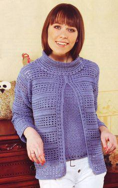 Crochet jacket PATTERN, crochet tunic pattern, elegant crochet tunic, crochet jacket pattern, detailed description in English.