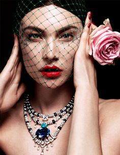 """splendor-coquettes-deactivated2: """" """"The Shine of Couture"""" : Vogue Russia - October 2012 : Jacquelyn Jablonski : Catherine Servel """""""
