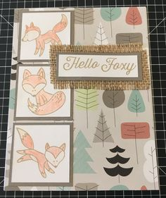 CTMH card using hello Foxy SOTM with jack paper