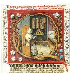 Hs. Brussel, Koninklijke Bibliotheek, 9121-23, fol. 67r: vermoedelijk een miniatuur in 1481 vervaardigd door Jan van der Moere