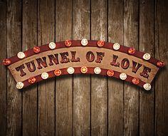 Tunnel of Love Fairground Sign Relic // Patina // Fun Fair