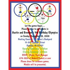 Olympics Birthday In