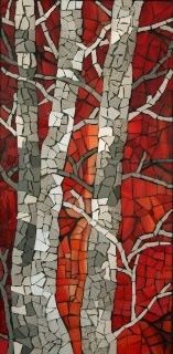 Birch tree mosaic