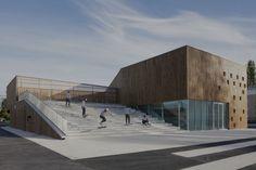 Ateliers O-S architectes: V. Baur, G. Colboc, G. Le Nouëne, Cécile Septet · NVR. Cultural Center in Nevers · Divisare