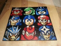 Megaman III with perler beads