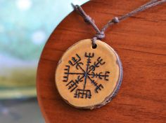 Vegvisir Pendant Viking Necklace Viking Compass by TheNorseWind Rune Symbols, Mayan Symbols, Celtic Symbols, Ancient Symbols, Egyptian Symbols, Norse Runes, Viking Runes, Norse Mythology, Icelandic Runes