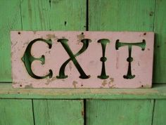 Cast Iron Painted EXIT Sign | Zachary Miller Antiques