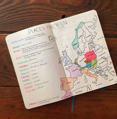 How to Make Maps in your Bullet Journal - Bad with Directions: Learn how to make cute country/world maps in your bullet journal! They are pretty, artsy, and a nice reminder (and inspiration) to travel around the world.